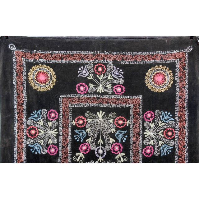 Embroidered Vintage Velvet Suzani - Image 4 of 7