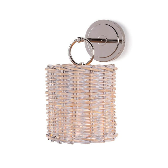 Not Yet Made - Made To Order Nantucket Sconce in Polished Nickel For Sale - Image 5 of 5
