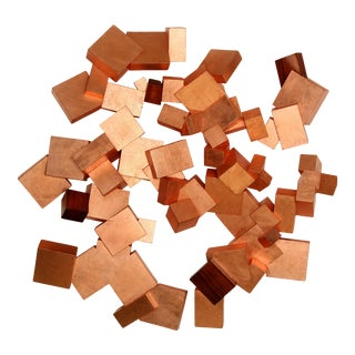 Copper and Boire Pyrite Wall Sculpture For Sale