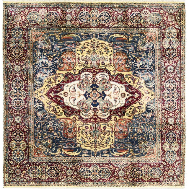 Traditional Hand Woven Rug 9' X 9'1 For Sale - Image 4 of 4