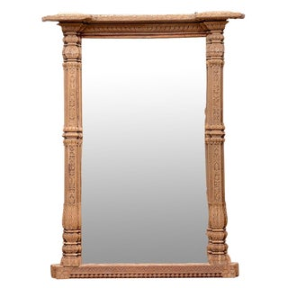 Architectural Indo-French Floor Mirror