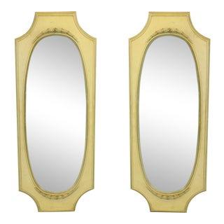 Pair of Mid Century Yellow Mirrors, Resin Mirrors