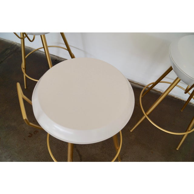 Mid-Century California Modern Bar Stools - Set of 4 - Image 10 of 11