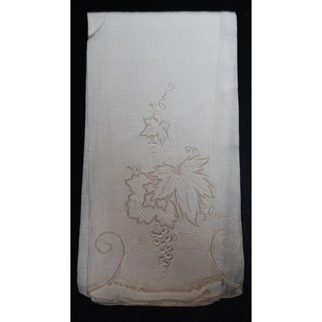 Vintage Embroidered Tea Towels - Set of 3 - Image 3 of 8