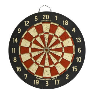 Vintage English Dart Board For Sale