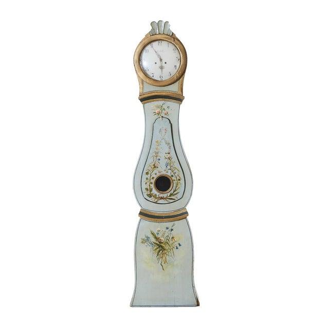 Wood Antique Swedish Gustavian Mora Clock For Sale - Image 7 of 7