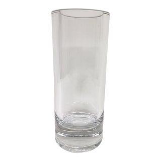 Tall Clear Crystal Pillar Vase