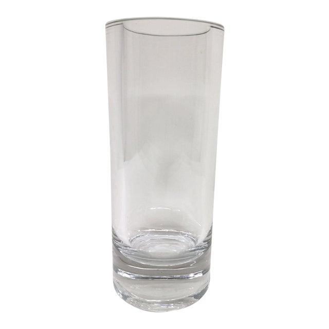 Tall Clear Crystal Pillar Vase Chairish