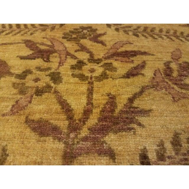 Kafkaz Peshawar Coralee Gold & Purple Wool Rug - 8'10 X 12'0 For Sale - Image 4 of 7