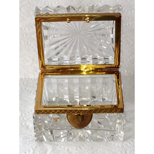 French Cut Crystal Banded Jewelry Box - Image 3 of 4