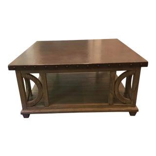 Lexington Transitiononal Zinc Top Coffee Table For Sale