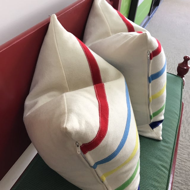 Hudson Bay Style Down Pillows - A Pair - Image 4 of 4