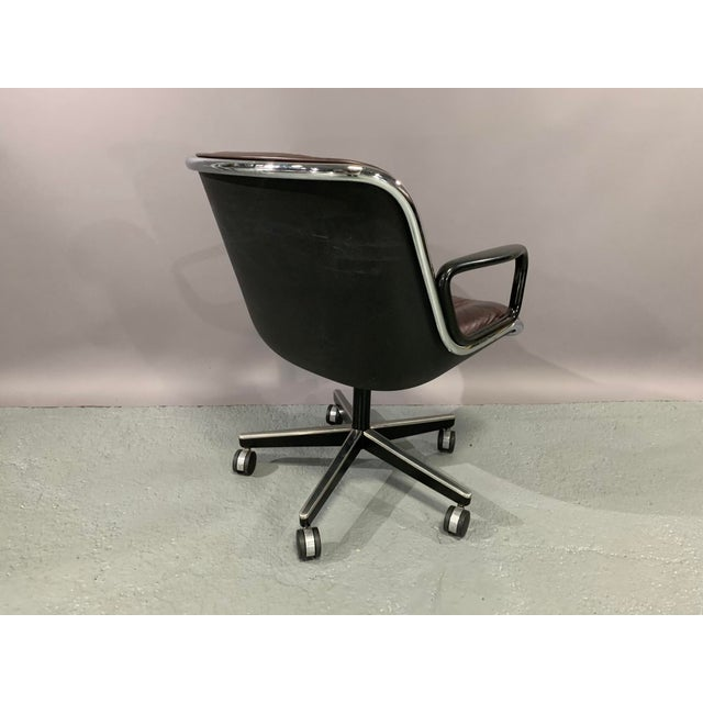 Executive Chair designed by Charles Pollock in 1965 for Knoll International in cordovan leather. This comfortable chair,...