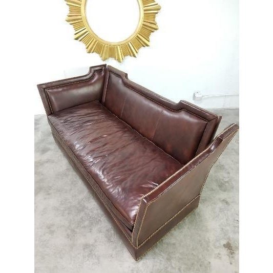 Leather Leather Sofa by Ferguson Copeland For Sale - Image 7 of 13