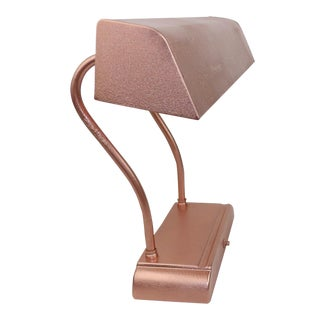 Rose Gold Copper Adjustable Goose Neck Desk Lighting Table Lamp