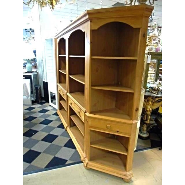 Rustic Broyhill Pine Bookcase Unit - Set of 3 For Sale - Image 3 of 10