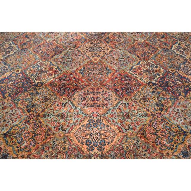 Textile Karastan 8.8x12 Multicolor Panel Kirman Room Size Rug # 717 For Sale - Image 7 of 13