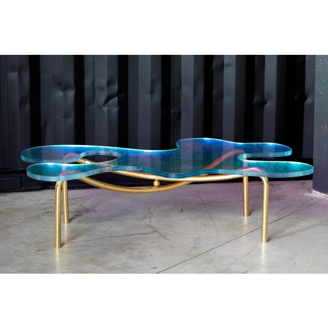 Picasso Coffee Table by Artist Troy Smith - Contemporary Design - Artist Proof - Limited Edition. Crazy glass is a light...