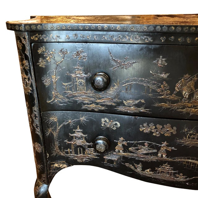 Figurative 18th Century Italian Japanense Style Two Drawer Chest For Sale - Image 3 of 7