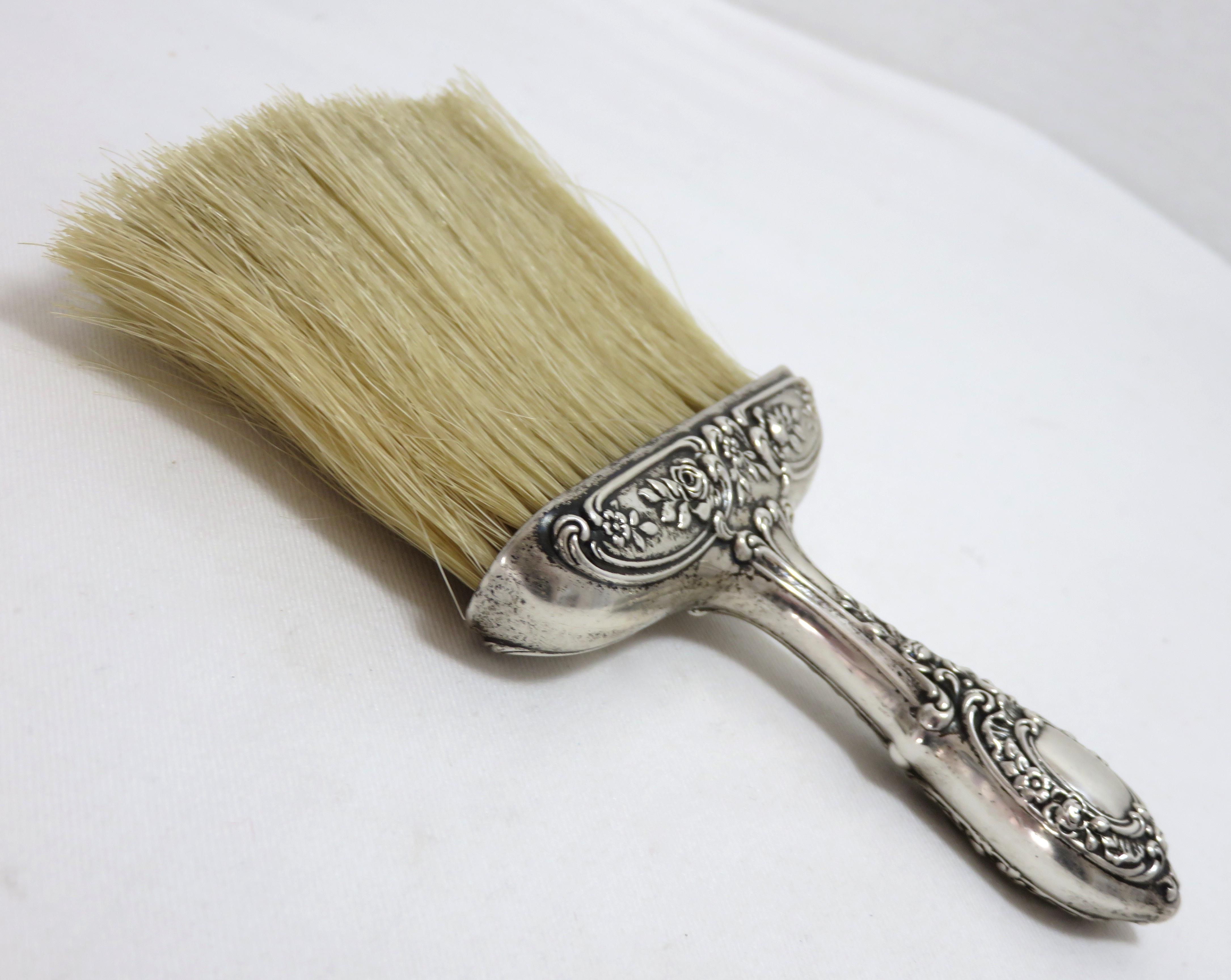 1900s Victorian Sterling Silver Table Crumb Brush For Sale In Boston    Image 6 Of 13