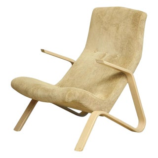 1970s Vintage Knoll Grasshopper Armchair For Sale