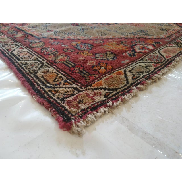 "1900 - 1909 1900's Leon Banilivi Antique N.West Persian Rug, 3'7"" X 10'6"" For Sale - Image 5 of 6"