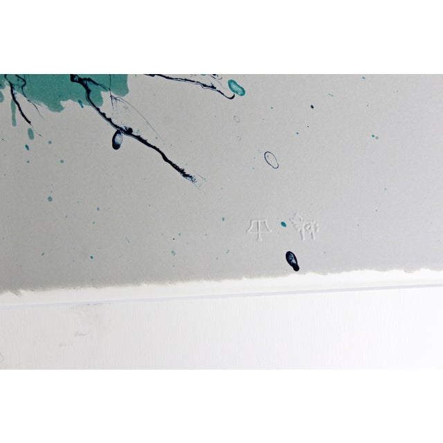 Abstract Unframed Signed Dated Numbered Robert Stackhouse Inner Soundless Lithograph 1992 For Sale - Image 3 of 6
