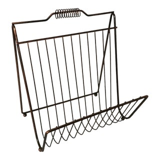 Mid Century Wire Magazine Rack