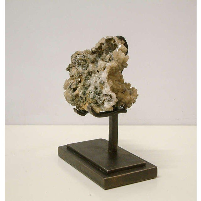 Contemporary 1990s Rock Crystal With Metallic Deposits Mounted on a Custom Maurice Beane Studios Stand For Sale - Image 3 of 9