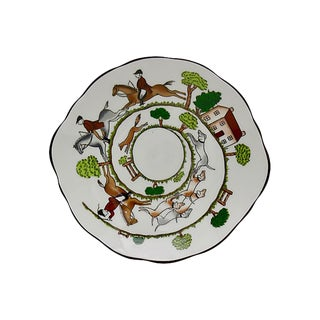 Coalport English Hunting Scene Candy / Nut Dish For Sale