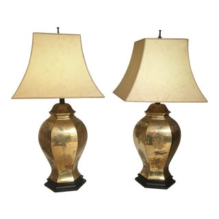 Vintage Style Ginger Jar Lamps - a Pair For Sale