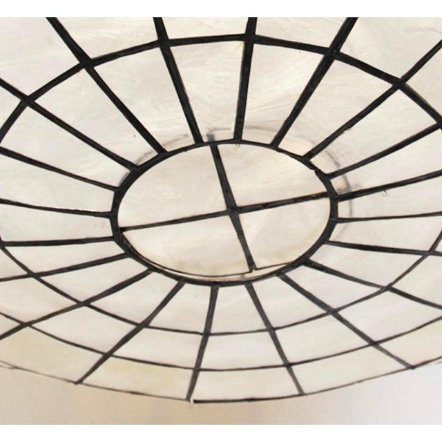 Contemporary Capiz Shell Globe Lantern 36 For Sale - Image 3 of 4