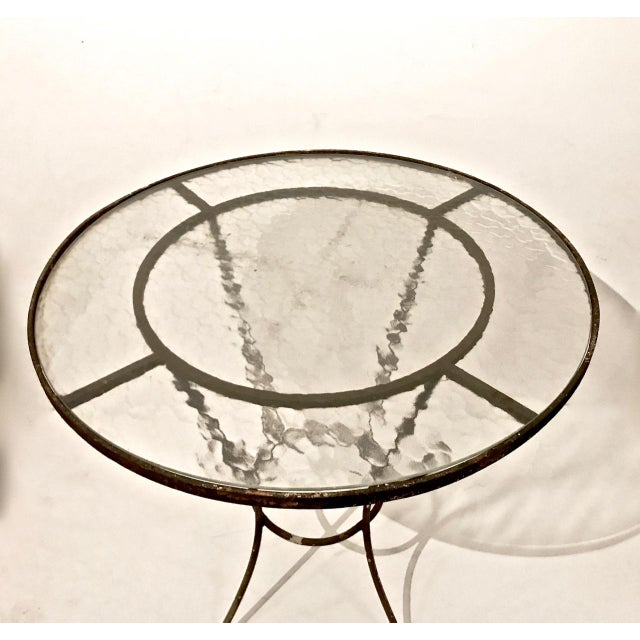 French 20th Century French Iron and Glass Bistro Table For Sale - Image 3 of 6