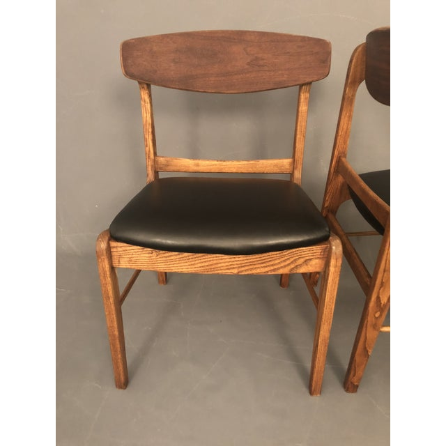 Black 1960s Danish Modern Walnut Dining Chairs - a Pair For Sale - Image 8 of 10