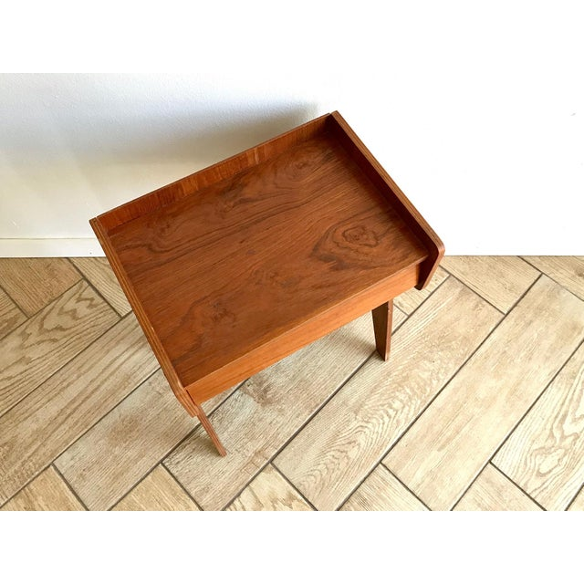 1960s Mid Century Modern Small Side Table Nightstand For Sale - Image 9 of 11