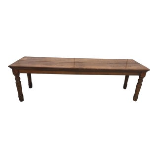 Antique English Farm Table For Sale