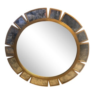 Round Gold Wall Mirror For Sale