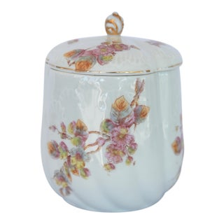 Antique French Porcelain Canister For Sale