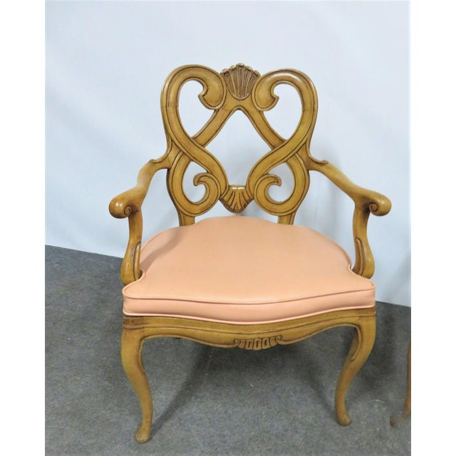 Mid 20th Century Louis XV Style Maple Shell Carved Dining Chairs- Set of 6 For Sale - Image 5 of 10