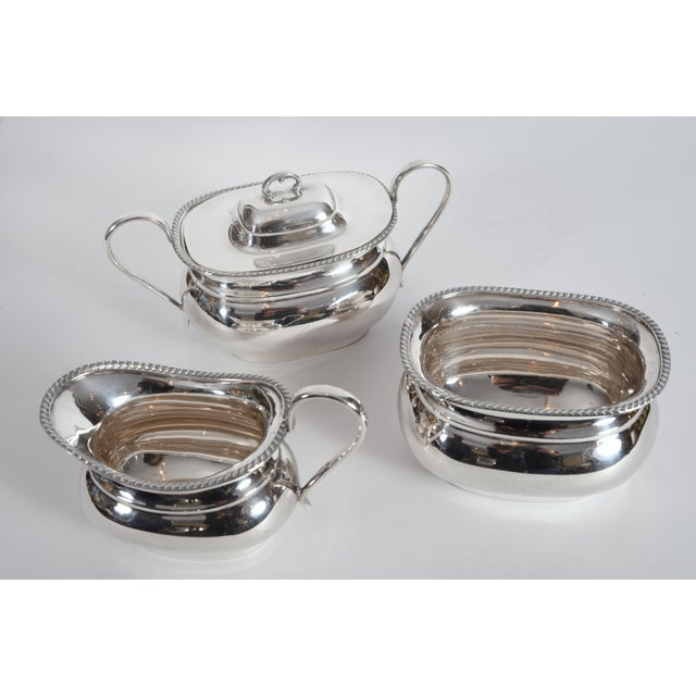 Metal Vintage English Sheffield Sterling Silver Tea / Coffee Service - 5 Pc. Set For Sale - Image 7 of 13