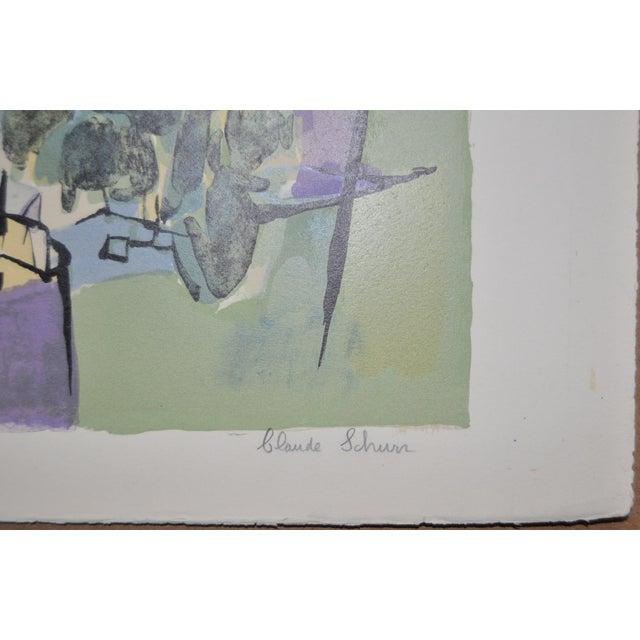 Claude Schurr Color Lithograph C.1950 For Sale - Image 4 of 7