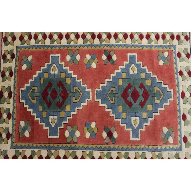 Islamic Ori̇ental Turki̇sh Wool Rug - 3′6″ × 4′10″ For Sale - Image 3 of 7
