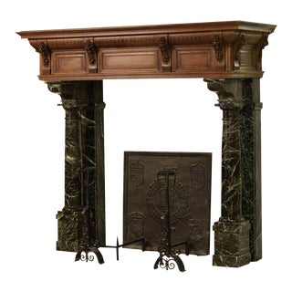 Monumental Neo-Renaissance Fireplace Mantel, 19th Century, Holland For Sale