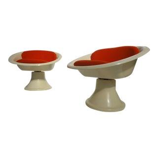 Super Rare 'mecurio' Chairs by French Artist Claude Courtecuisse, Steiner, 1967