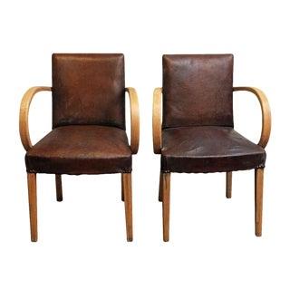 Vintage Mid-Century European Bridge Chairs - A Pair For Sale