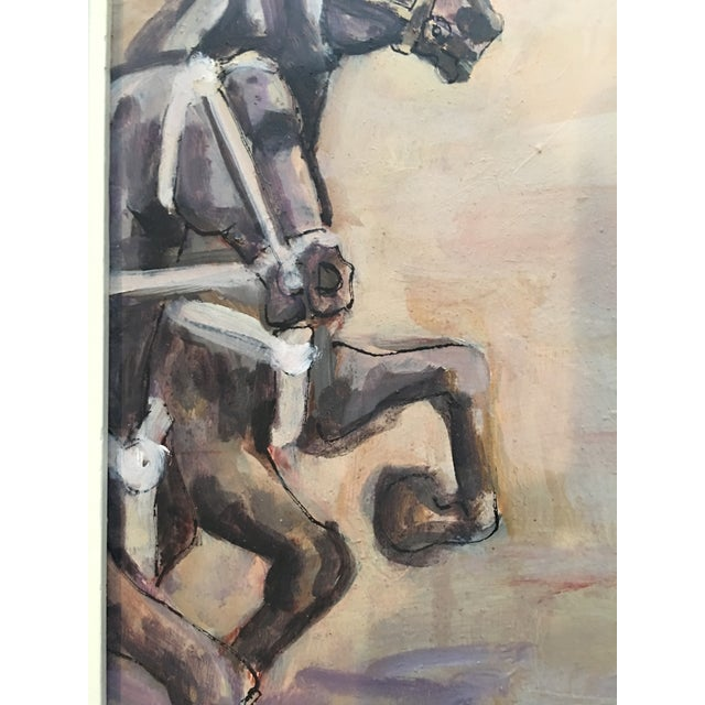 Arthur Smith 'Trick Riding' Original From Circus Series Painting For Sale - Image 4 of 12