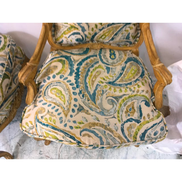 French Pair of French Style Chairs For Sale - Image 3 of 9