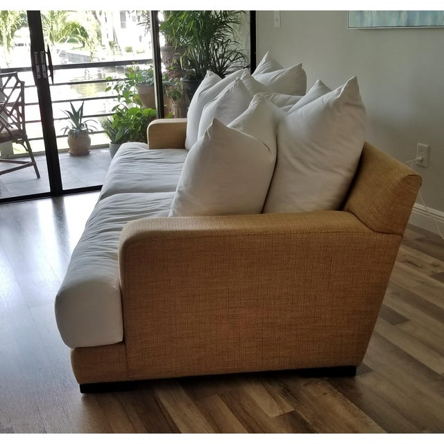 Contemporary Resort Style Modern Oversized White & Sand Sofa and Chair - Set of 2 For Sale - Image 3 of 13