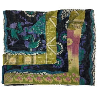 Vintage Kantha Quilt For Sale