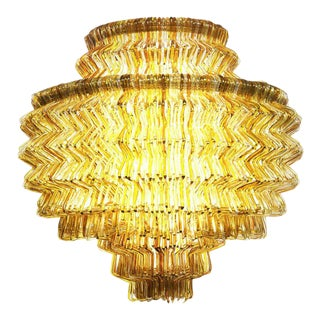 Brilli C Chandelier in Gold Resin by Jacopo Foggini For Sale